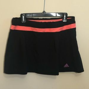 Black and Pink Women's Adidas Large Skort